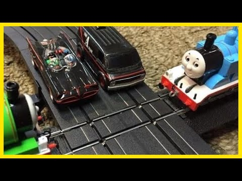 BATMAN and A-TEAM vs PERCY and THOMAS the TANK ENGINE Trains & Slot Cars