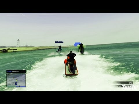 GTA V Multiplayer Gameplay – Jet Ski Race! (Grand Theft Auto 5 Online Game Play)