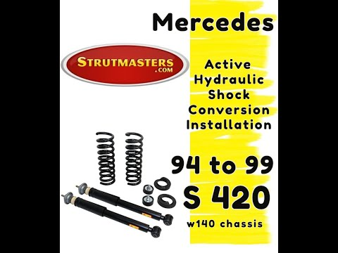 1992-1998 Mercedes S 420 With A Strutmasters Air Suspension Conversion (Rear Install Video)