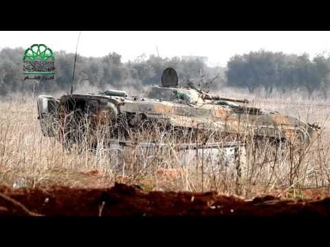 حلب: جانب من الاشتباكات مع المليشيات الطائفية على جبهة باشكوي بريف حلب الشمالي
