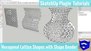 Video Creating Hexagonal Lattice Shapes in SketchUp with Shape Bender MP3, 3GP, MP4, WEBM, AVI, FLV Desember 2017