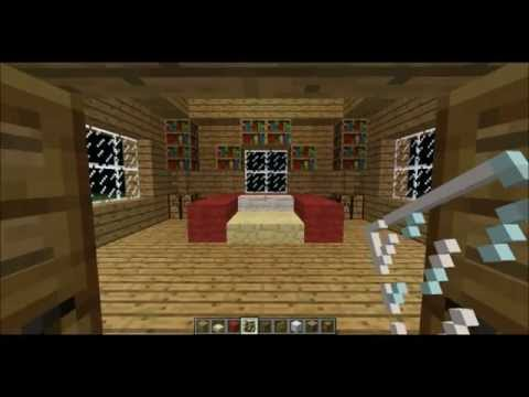 Minecraft - How to make a kingbed + decoration for bedroom