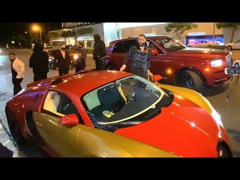 French Montana Cruises Through WeHo In His $2M Bugatti Veyron