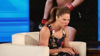 Video Ronda Rousey Shows Ellen How to Mean Mug MP3, 3GP, MP4, WEBM, AVI, FLV April 2018