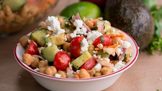 Avocado Chickpea Salad with Chili Lime Dressing by Tasty