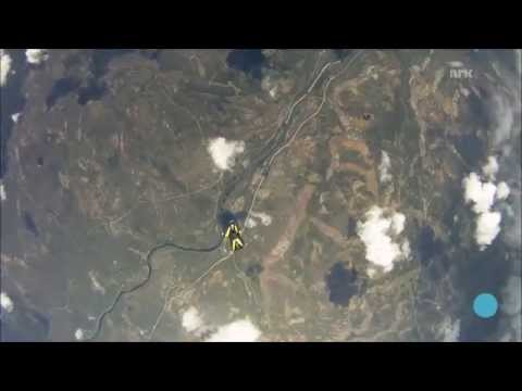 Skydiver almost hit by METEOR!!!