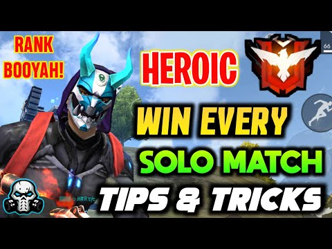 BEST TIPS & TRICKS FOR PUSHING RANK TO HEROIC || SOLO RANK BOOYAH! 100% WORKING ✅