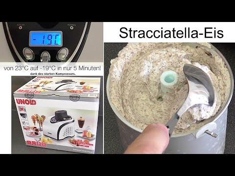 Unboxing & Test | Unold Polar Eismaschine 48840 | selbstgemachtes Stracciatella Eis