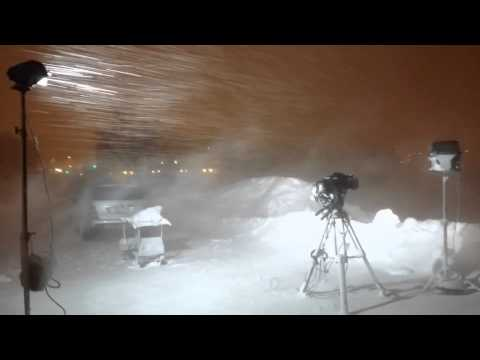 The Weather Channel's Mike Seidel witnessing white out conditions 2/20/14 in Ashland, Wisconsin