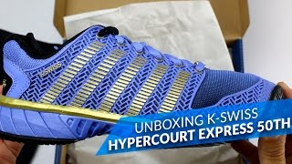 video Unboxing K-Swiss Hypercourt Express Woman 50th