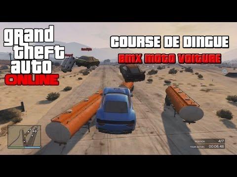 GTA ONLINE Course de Dingue, BMX, Moto, Voiture (FR)