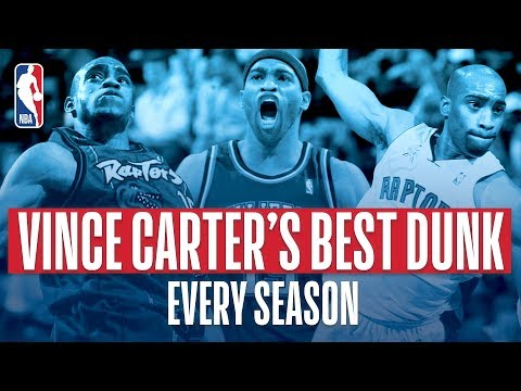Video: Vince Carter BEST Dunk Each Year In The NBA!