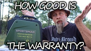 My SPORTSMAN 1000 Generator BLEW UP Under Warranty! Company Response Is Shocking!