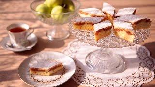 Pastel de puré de manzana