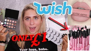 Video FULL FACE TESTING WISH MAKEUP UNDER £1!!! 😱 MP3, 3GP, MP4, WEBM, AVI, FLV Juli 2018