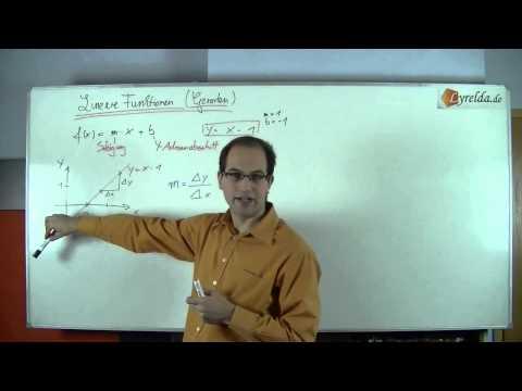 lineare Funktionen & Geraden