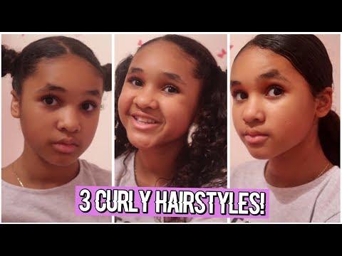 3 CURLY HAIRSTYLES!  Inspiring Vanessa