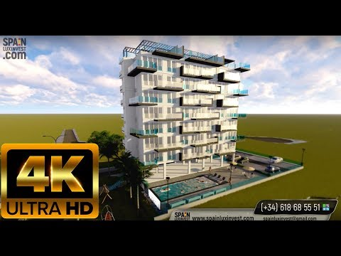 От 178.000€ Новые апартаменты с видом на море в Бенидорме Новостройки на Коста Бланка. Стиль Хайтек