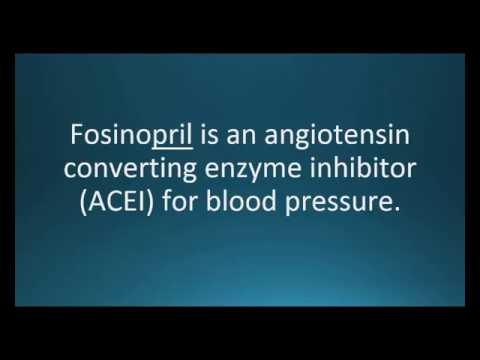 How to pronounce fosinopril (Monopril) (Memorizing Pharmacology Flashcard)