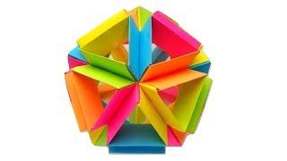 Новогодний шар из бумаги. Оригами елочное украшение в стиле кусудама
