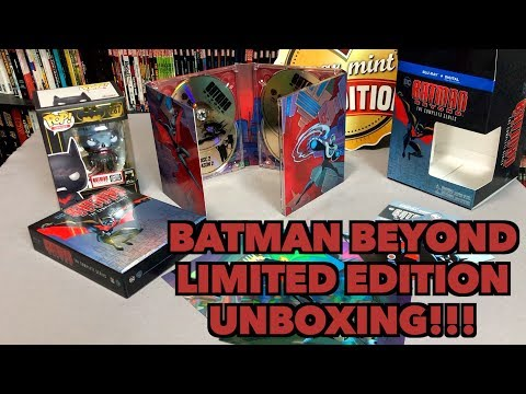 Batman Beyond Deluxe Limited Edition Blu-ray Unboxing!!