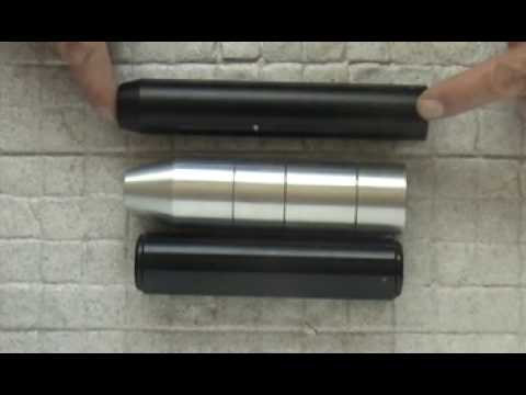 AIR GUN SUPPRESSOR 22lr HMR RIMFIRE RIFLE SILENCER DESIGNS HUSHER.