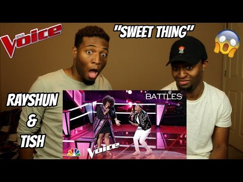 "The Voice 2018 Battle - Rayshun LaMarr Vs. Tish Haynes Keys: ""Sweet Thing"" (AMAZING!!)"