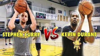 Ever since the new addition of Kevin Durant to the Golden State Warriors, Stephen Curry & Kevin Durant both have been shooting together during each practice.In this video taken during the 2017 NBA Playoffs, Stephen Curry & Kevin Durant took turns firing 3-Pointers after one another. Curry initially took the lead, and then Durant came in with multiple shots, but Curry won the shootout with the score of 16/21 in the end, while Durant scored 13/21.As of today June 7, 2017 - The Golden State Warriors is taking the lead 2-0 against the Cleveland Cavaliers in the 2017 NBA Finals, and it is still hard to say that the game is officially over yet for the Cavs & LeBron James.Who will take home the 2017 NBA Championship this time around?● FACEBOOK : https://www.facebook.com/jimmyballers20
