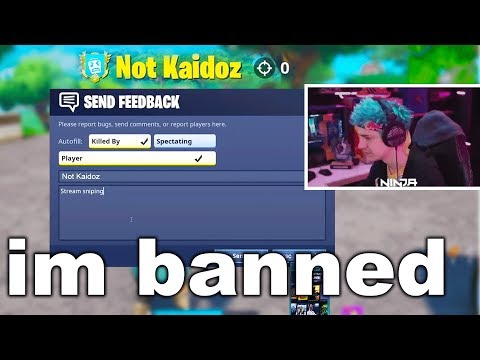 I Stream Sniped Fortnite Streamers And Got BANNED...