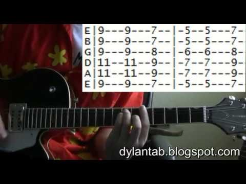 Bob Dylan All Along the Watchtower Famous Riffs Expert Guitar Instructions Song Tablature