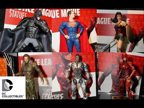 Toy Fair 2017 Reveals/Thoughts: DC Collectibles Justice League Statues Batman, Flash, Cyborg