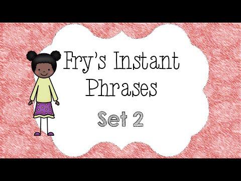Fry's Instant Phrases set 2   Fluency Practice