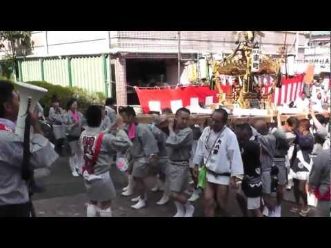 2012年 綱島諏訪神社例大祭神輿渡御東町発輿