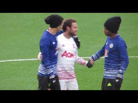 Mourinho and Mata return to Chelsea - Meeting former teammates and coaches (видео)