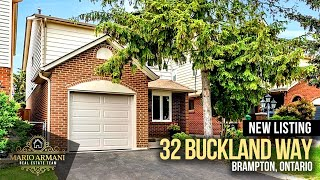 Just Listed! 38 Buckland Way in Brampton! Located in a wonderful family oriented pocket, this detached 2 story home has been...