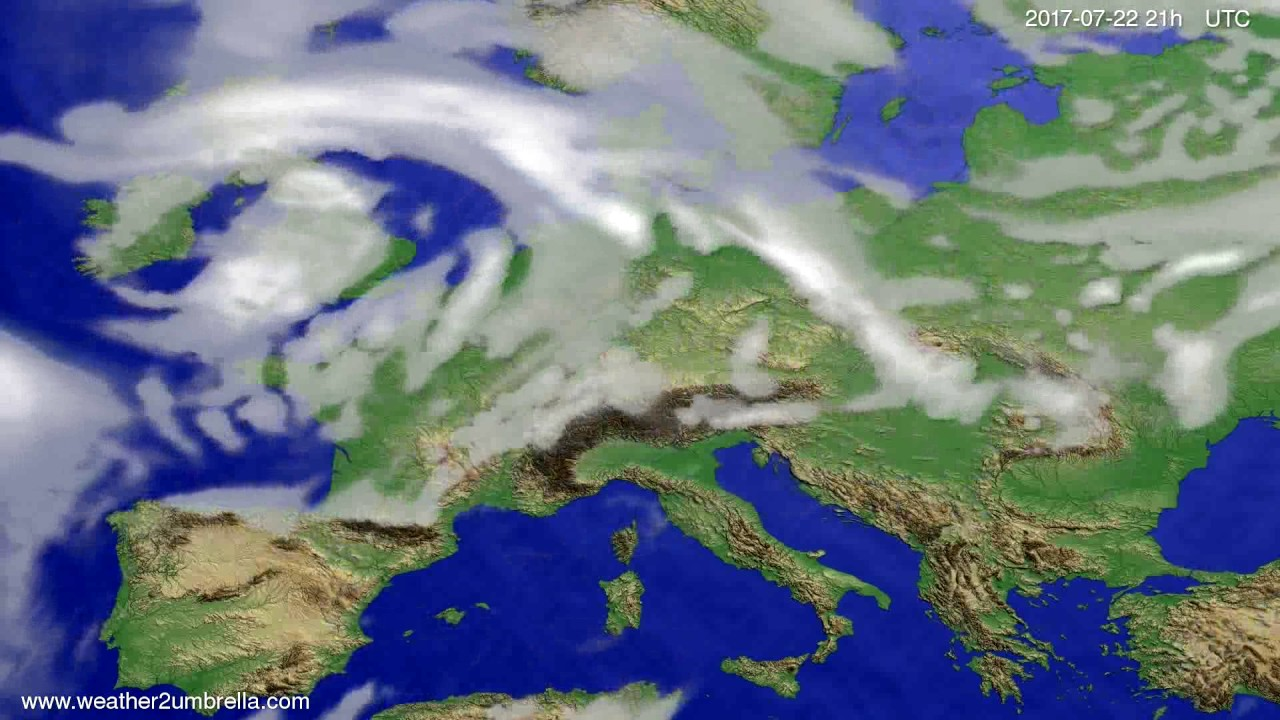 Cloud forecast Europe 2017-07-19