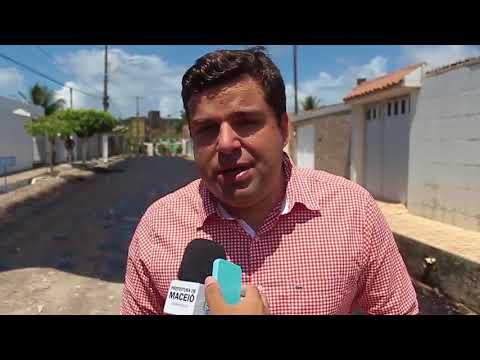 Marcelo Palmeira vistoria serviços de pavimentação no Tabuleiro