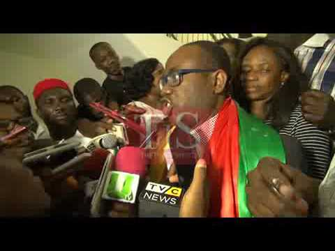 Video: Kwesi Nyantakyi receives rousing welcome at Kotoka International Airport