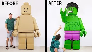 Video Transformation of a GIANT Lego Man into an Insane HULK MP3, 3GP, MP4, WEBM, AVI, FLV Juni 2018