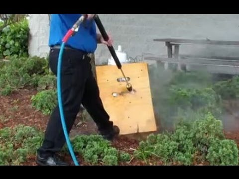 Turbo Nozzle - Rotating Nozzle blowing a hole through plywood during training @ City of Boca Raton