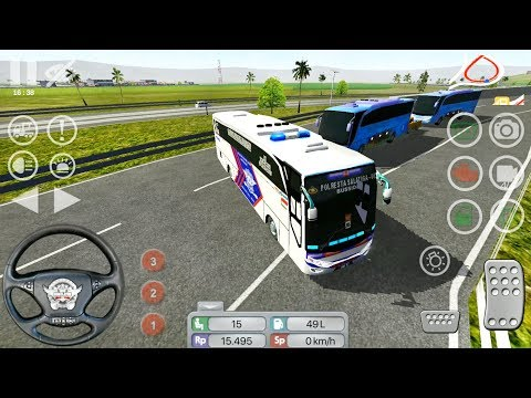 BUSSID Bus Simulator Indonesia - Polisi Livery - Android Gameplay FHD