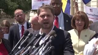 Activists and house representatives, including Arizona Rep. Ruben Gallego, gathered outside the Capitol in support of ...