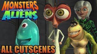 Monsters vs Aliens  Game Movie ( All Cutscenes )
