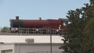 Hogwarts Express testing and Wizarding World Diagon Alley update at Universal Studios