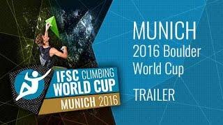 Upcoming LiveStream Trailer - IFSC Climbing World Cup Munich 2016 - Bouldering by International Federation of Sport Climbing