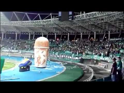 Deportivo Cali Vs aguilas doradas | On tour Pereira | 07-Sep-2014 - Frente Radical Verdiblanco - Deportivo Cali