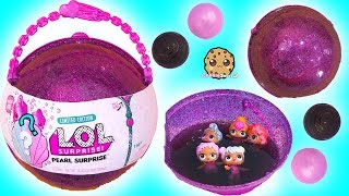Video LOL Big Pearl Surprise Blind Bag Ball with Fizz Shell In Water - Toy Video MP3, 3GP, MP4, WEBM, AVI, FLV Juni 2018