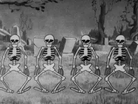 Silly - skeleton cartoon made by disney. i do not own any rights.