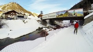 Samnaun Switzerland  city pictures gallery : Samnaun Switzerland in Ischgl Austria skiing Из Замнаун Швейцария в Ишгль Австрия на лыжах