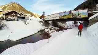 Samnaun Switzerland  city photos gallery : Samnaun Switzerland in Ischgl Austria skiing Из Замнаун Швейцария в Ишгль Австрия на лыжах